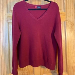 Deep red cashmere sweater